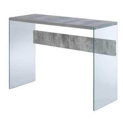 Convenience Concepts SoHo Faux Birch and Glass Console Table, Faux Birch/Glass - Home Depot