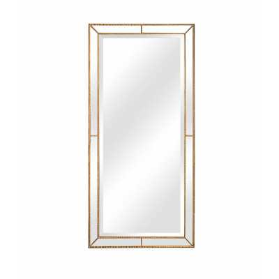 "Roxburghe Beveled Full Length Mirror Finish: Antique Gold, Size: 86"" H x 40""W x 1.4""D - Perigold"