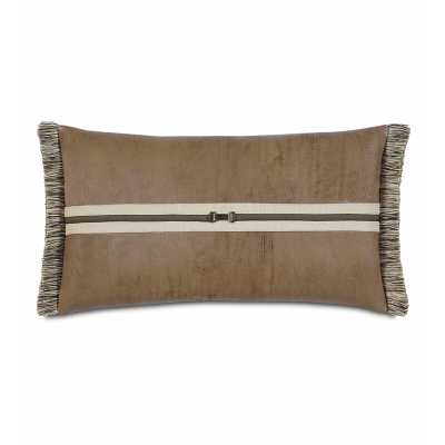 Eastern Accents Aiden Faux Leather Lumbar Pillow - Perigold
