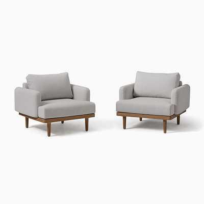 Halden Lounge Chair, Light Gray, Mast, Set of 2 - West Elm