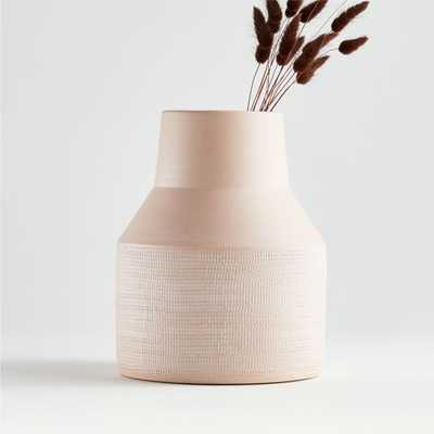Lemont Small Blush Vase - Crate and Barrel