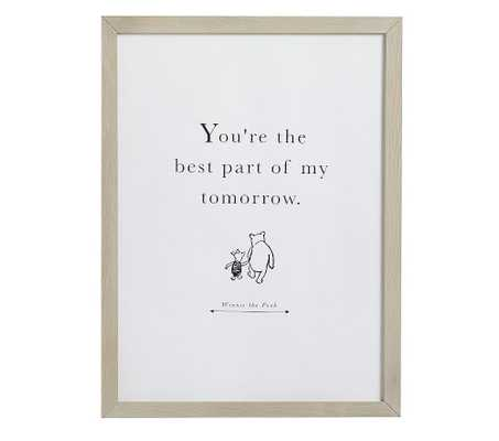 Disney Winnie The Pooh Wall Art, My Tomorrow - Pottery Barn Kids