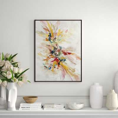 """Chelsea Art Studio 'Endless Dream by Jean Kenna' by Jean Kenna - Floater Frame Painting on Canvas Size: 54.5"""" H x 41.5"""" W x 1.5"""" D, Format: Image Gel Brush - Perigold"""