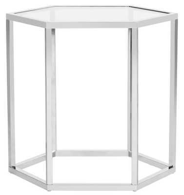 Teagan Glass End Table - Chrome - Arlo Home - Arlo Home
