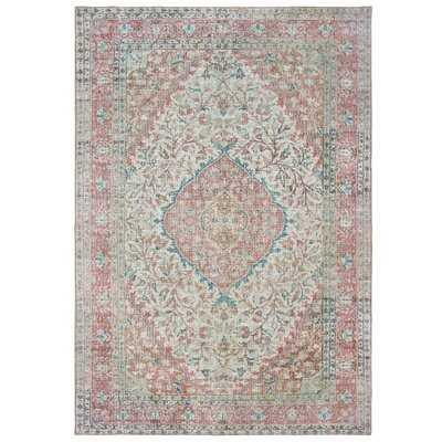 Alagan Oriental Ivory/Pink Area Rug - Wayfair