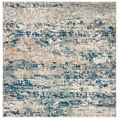 Safavieh Madison Gray/Blue 9 ft. x 9 ft. Square Area Rug - Home Depot