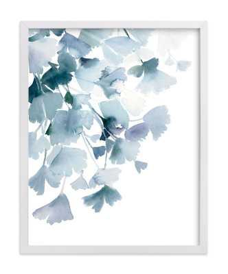 Blue Ginkgo Art Print - Minted