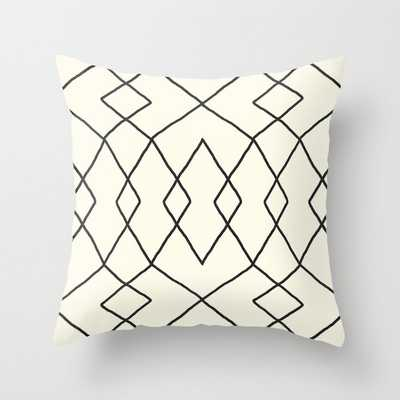 "Brook In Cream Couch Throw Pillow by Becky Bailey - Cover (20"" x 20"") with pillow insert - Outdoor Pillow - Society6"