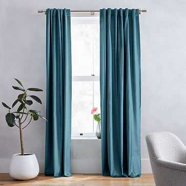 "Luster Velvet Curtain, Set of 2, Regal Blue 48""x108"" - West Elm"