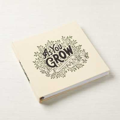 As You Grow: A Modern Memory Book for Baby - Crate and Barrel