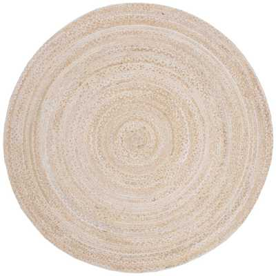 Safavieh Braided Beige 5 ft. x 5 ft. Round Area Rug - Home Depot