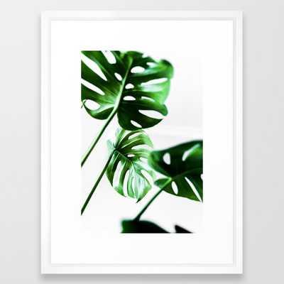 Monstera 4 Framed Art Print by Mareike BaPhmer - Vector White - MEDIUM (Gallery)-20x26 - Society6