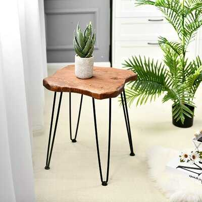 Gebhart Solid Wood Cross Legs End Table - Wayfair