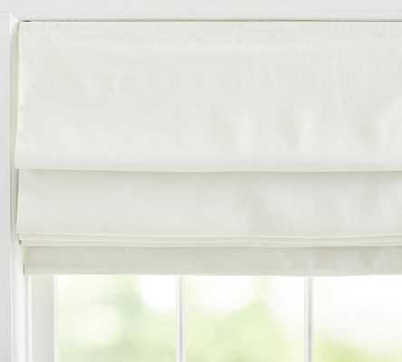 "Belgian Flax Linen Shade, 36 x 64"", Classic Ivory - Pottery Barn"