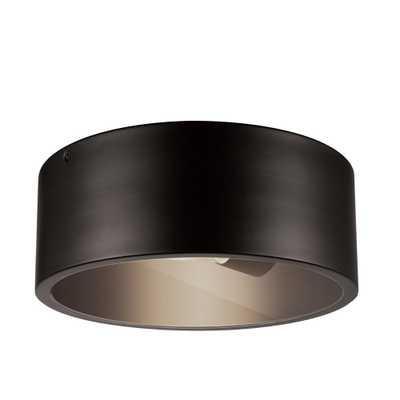 Globe Electric Teagan 1-Light Dark Bronze Outdoor Indoor Flush Mount Ceiling Light - Home Depot