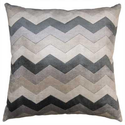 "Square Feathers Twilight Chevron Pillow Size: 20"" x 20"" - Perigold"