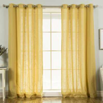 Norfork Solid Semi-Sheer Grommet Curtain Panels - Birch Lane