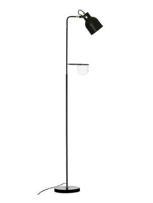 "62""H Metal Floor Lamp with Glass Planter/Vase in Attached Holder - Moss & Wilder"