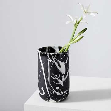 Torrent Vase, Black - West Elm