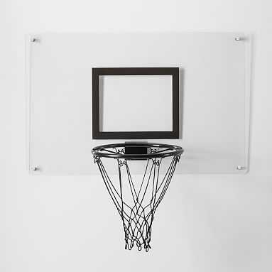Wall Mounted Acrylic Basketball Hoop - Pottery Barn Teen