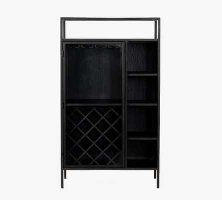 "Marnie 33"" Bar Cabinet, Black - Pottery Barn"