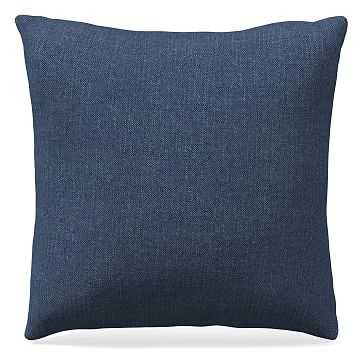 """20""""x 20"""" Pillow, Performance Yarn Dyed Linen Weave, French Blue - West Elm"""