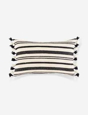 "Margaux Lumbar Pillow, Cream and Black 20"" x 12"" - Lulu and Georgia"