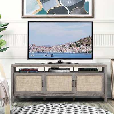 Ebern Designs Modern Farmhouse Design Tv Stand Up For Tv's To 65''w/open Shelf Walnut - Wayfair