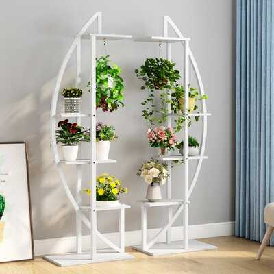 5-Tier Plant Stand Pack Of 2, Multi-Purpose Curved Display Shelf Bonsai Flower Plant Stand Rack - Wayfair