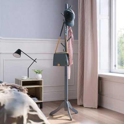Andrw Solid Wood 8 - Hook Freestanding Coat Rack - Wayfair