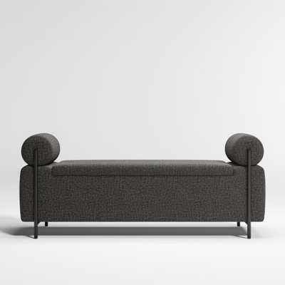 Steen Black Storage Bench - Crate and Barrel