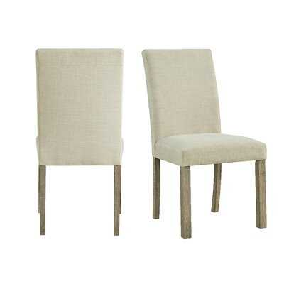 Steede Upholstered Parsons Chair in Natural - Wayfair