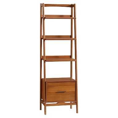 west elm x pbt Mid-Century Tower 22'' Bookcase, Acorn - Pottery Barn Teen