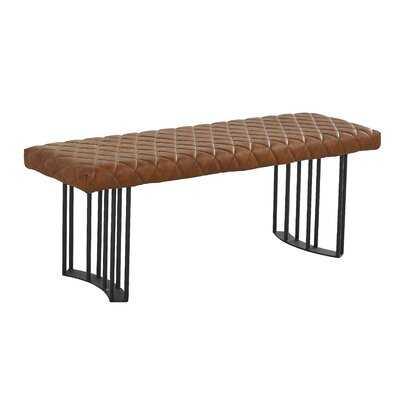 Marea Faux Leather Bench - AllModern