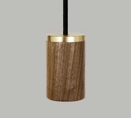 Tala Wood Pendant, Dark Walnut - Pottery Barn