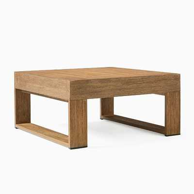 """Portside Square Coffee Table, 32"""", Driftwood - West Elm"""