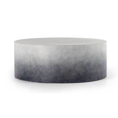 Four Hands Thayer Stone/Concrete Coffee Table Color: Indigo Ombre - Perigold