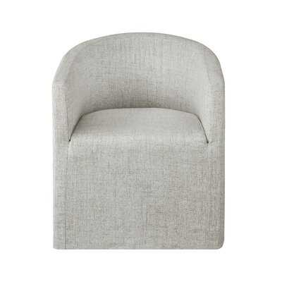 Cairo Upholstered Wingback Arm Chair in Beige - Wayfair