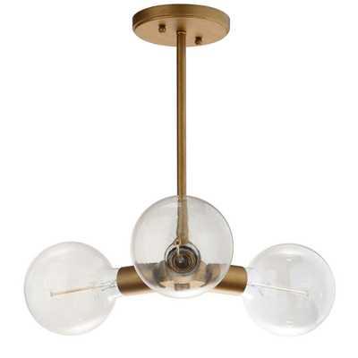 Safavieh Harkin 3-Light Gold Pendant - Home Depot