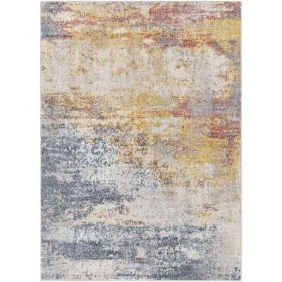 Roy Abstract Teal/Sky Blue Area Rug - Wayfair