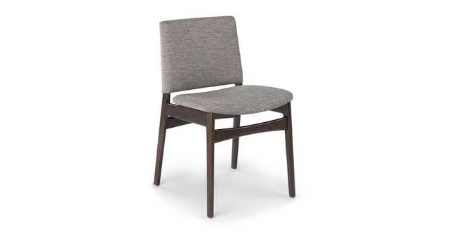 Nosh Quarry Gray Smoke Dining Chair- set of 2 - Article