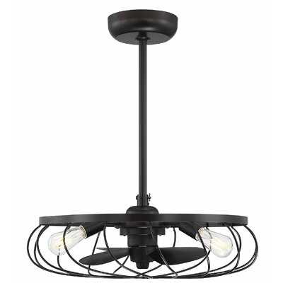"""18"""" Maximus 3 Blade Ceiling Fan with Remote, Light Kit Included - AllModern"""