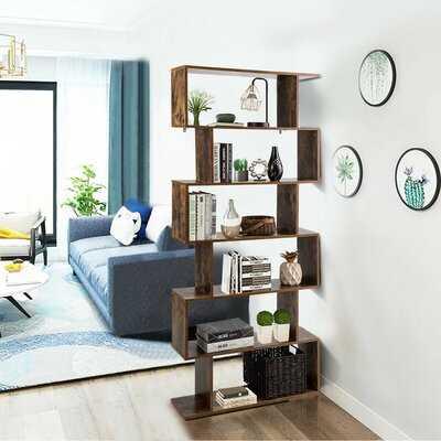 "76"" H x 31.5"" W Geometric Bookcase - Wayfair"