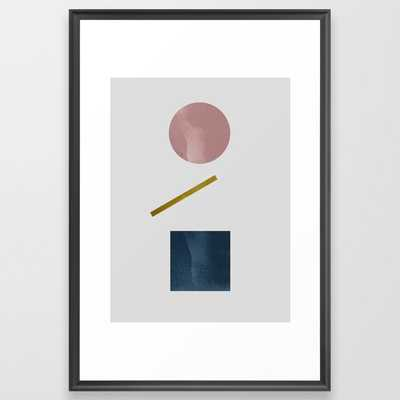 Geometric Shapes 11 Framed Art Print by Mareike BaPhmer - Scoop Black - LARGE (Gallery)-26x38 - Society6