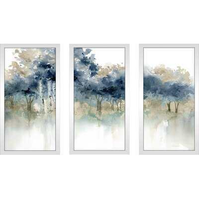 'Waters Edge I' - 3 Piece Watercolor Painting Multi-Piece Image - Wayfair