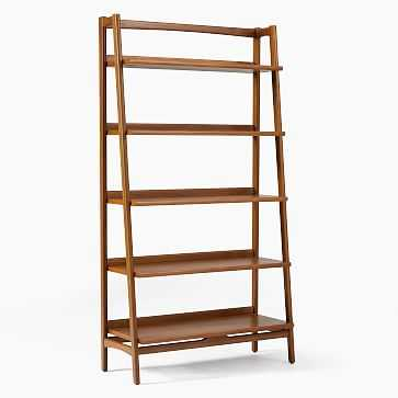 Mid-Century Collection, Open Shelf Bookcase, Wide, Acorn, Set of 2 - West Elm