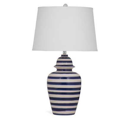 Cody Ceramic Table Lamp, Blue & Beige - Pottery Barn