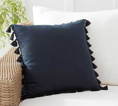 "Tassle Trim Indoor Outdoor Pillow, 18 x 18 x 18"" - Pottery Barn"