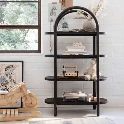 Dolly Black Tall Bookcase - Crate and Barrel