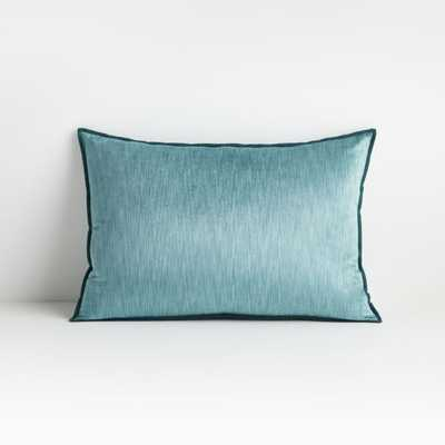 """Styria Pacific 22""""x15"""" Pillow with Down-Alternative Insert - Crate and Barrel"""